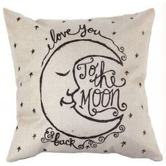 Throw Pillow Covers |I love you to the moon and back | UniikStuff