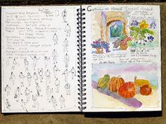 Stillman & Birn, Beta 9x12 journal, painted in San Angelo October 2013. Nancy Standlee Fine Art