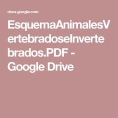 EsquemaAnimalesVertebradoseInvertebrados.PDF - Google Drive