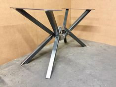 The Diamond Design Table Base, Octopus Table Base, Heavy Duty, Strong and Sturdy Table Base. Beautiful Design, High Quality! The base is welded with T.I.G. and M.I.G. welding. Nicely taken edges, beautiful welds and top class finish. This steel table base will not ship assembled,
