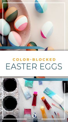 Experiment with your favorite color combos by making modern, DIY Color-Blocked Easter Eggs!