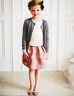 Adorable Brocade Party Skirt