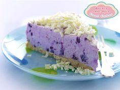 Ohne Backen: Blaubeer-Cheesecake mit weißer Schokolade