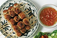 Nem Nuong - Made from minced pork, ground rice and seasonings, these patties are equally good hot from the grill or cooled to room temperature.