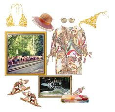 """Soooo Munich- the style of my hometown. Drifting down the river and take public transport back to your towel."" by juliabachmann ❤ liked on Polyvore featuring Etro, Marysia Swim, Missoni and Missoni Mare"