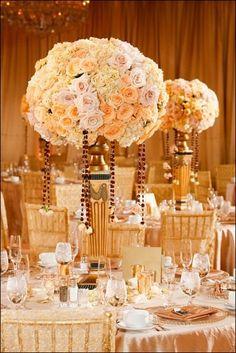 Una decoración dorada y perfecta