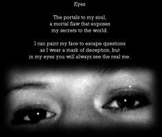 Eyes, a poem on SHE'S IN PRISON