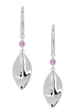 Sterling Silver Pink Sapphire Petal Dangle Earrings by Swarovski on @HauteLook