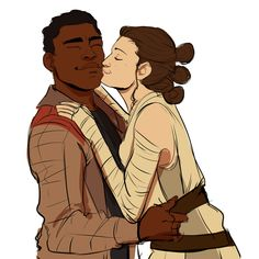Fiin and Rey from Star War Episode VII: the Force Awakens