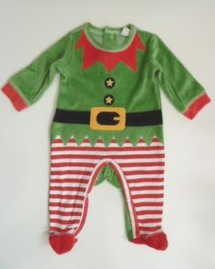 NEW Christmas ELF Baby Boy Fancy Dress Romper | eBay