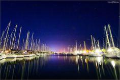 Le port de Gruissan la nuit par Yoann Aude Languedoc Sud France