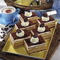 Cappuccino-Sahne-Schnitten Rezept | LECKER