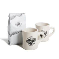 World diner mugs + Ghostly's Ellsworth single-origin coffee