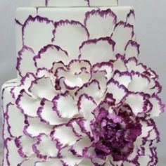 This cake was inspiration enough for this purple and white inspiration board! (image via Mali B Sweets)