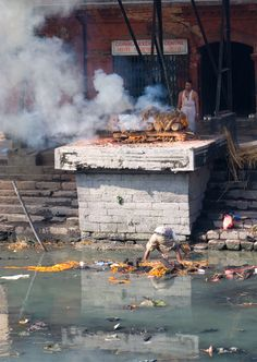 Cremation, is performed at Pashupatinath Temple on the banks of the Bagmati River. Bagmati, Nepal Copyright: Eugene Ward