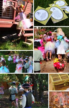 pirates and pixies party with details. Great for Jude and Lila's first joint birthday party!