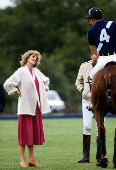 1984 Diana talks with Prince Charles, who is on horseback, at a Polo match.  via @AOL_Lifestyle Read more: http://www.aol.com/article/2016/06/29/princess-dianas-gravesite-is-getting-a-multimillion-dollar-make/21421568/?a_dgi=aolshare_pinterest#fullscreen