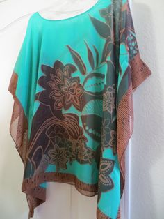 Coverup, Emerald Green Beach Coverup, Womens Tunic, Womens Blouse