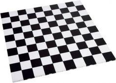 Chequered exhibition floor