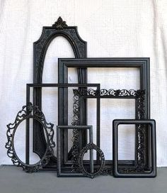 Black Ornate Vintage Frames