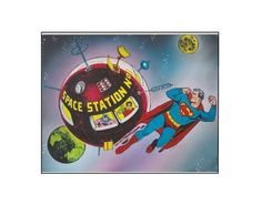 Superman & Batman...the satellite age of outer space! Classic DC Comics  sericel