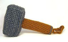 Thor's hammer (Mjolnir) handmade plush toy or baby rattle