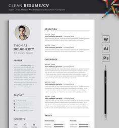 Clean & Modern Resume/cv template to help you land that great job. The flexible page designs are easy to use and customize, so you can quickly tailor-make your resume for any opportunity. Resume Design Template, Modern Resume Template, Creative Resume Templates, Cv Template, Business Templates, Job Resume, Resume Tips, Resume Help, Google Docs