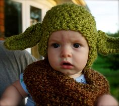 Yoda Baby Beanie by kariodesigns on Etsy, $18.00 www.kariodesigns.com