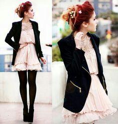 Luanna perez. Vintage chic outfit♥