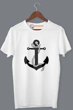 White Printed T-Shirt – Amazingcraft Quality T Shirts, Printed, Mens Tops, Fashion, Moda, Fasion, Fashion Illustrations, Fashion Models