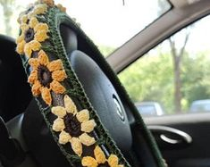 Crochet Car, Crochet Gifts, Car Steering Wheel Cover, Macrame Plant Hangers, Car Covers, Car Accessories, Banana Bread, Gifts For Women, Crocheting