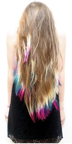 Photo: Lauren Conrad Tie-Dyes Hair Tips, Hair Makeover | Teen.com