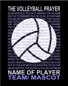 The Volleyball Prayer Personalized with Volleyball Senior night Sports banquet Volleyball print Volleyball poster prayer - Funny Volleyball Shirts - Ideas of Funny Volleyball Shirts - Volleyball Posters, Volleyball Memes, Volleyball Workouts, Coaching Volleyball, Volleyball Hair, Volleyball Team Shirts, Volleyball Locker, Volleyball Ideas, Volleyball Pictures