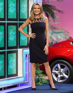 "LAUNDRY: Midnight spandex cocktail dress w/black & white rhinestone ""necklace"", multiple vertical straps at top of bodice, sleeveless, straight skirt 