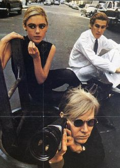 Edie Sedgwick & Andy Warhol with his camera