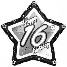 Happy Birthday Black, Happy 80th Birthday, Happy Birthday Bunting, Birthday Star, 70th Birthday Parties, Birthday Wishes, Birthday Ideas, Foil Balloons, Latex Balloons