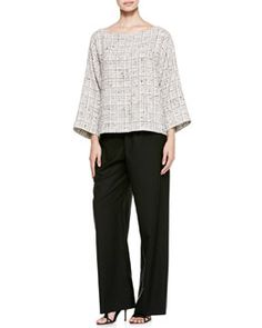 eskandar Bateau-Neck Top & Wide-Leg Trousers...think of '2 x'4' top and One Seam Pants from CUTTING LINE DESIGNS