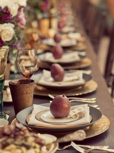 marsala gold table scape | 33 Thanksgiving Decorating Ideas & Inspirations! | Design Blog :: Oli ...