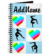 This dazzling Gymnast will do back flips for this charming and colorful personalized Gymnastics Journal and Diary. Add the Gymnasts name to our awesome Gymnastics Tees and Gifts at SportsStar.