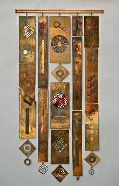 Fran Solar metal artist--  Scraps Hanging