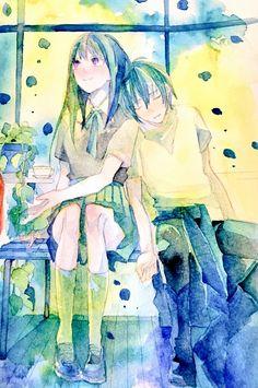Isn't Hiyori supposed to be sleeping on Yato? Anime Noragami, Yato And Hiyori, Manga, Yatori, Aerial Images, Girls Anime, Studio Ghibli, Anime Couples, The Darkness