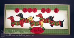 Dachshund  Card by Crafty Math-Chick for Newton's Nook Designs - Holiday Hounds Dog Stamp set
