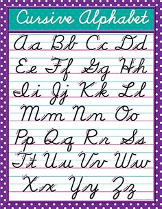 Teacher Created Resources Cursive Chart, Multi Color Convenient, useful learning tools that decorate as they educate! Improve Your Handwriting, Improve Handwriting, Cursive Handwriting, Cursive Letters, Handwriting Practice, Penmanship, Learn Cursive, Writing Cursive, English Handwriting