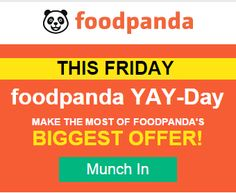 Food Panda is offering Flat 30% Off on Food Order How to catch the offer: Click here for offer page Apply offer Code : YAYDAY Make Final Payment