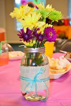 Yours Two Make - Mason jar centerpieces decorations