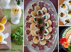 Tipy a triky Food Design, Party Food Trays, Baked Camembert, Different Salads, Chocolate Slice, Food Garnishes, Party Buffet, Deviled Eggs, Food Art