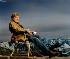 Robert Redford, actor, director, environmental activist, photographed on the terrace of his home in Sundance, Utah.