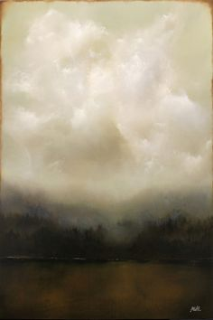 'Lonely Wild' by American painter Adam Hall. Oil on panel, 20 x 30 in. via the artist's site