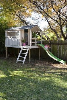would be awesome to add a slide off the back loft area of the playhouse
