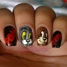 Tom and Jerry Nails  Colours: grey, Brown, beige, yellow, white and Black  Length: 20 Minutes